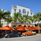 Art déco utformar Edison i Miami Beach Arkivbild
