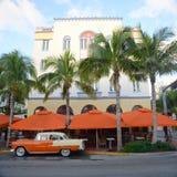 Art déco utformar Edison i Miami Beach Royaltyfri Bild
