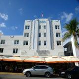 Art déco utformar fyren i Miami Beach Royaltyfri Bild