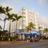 Art déco utformar parkerar central i Miami Beach Royaltyfri Bild