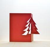 Art décoratif de métier de papier d'arbre de Noël images stock