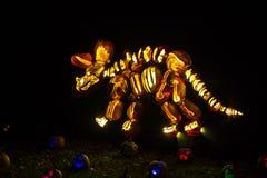 Art découpé de potiron : squelette de triceratops images stock