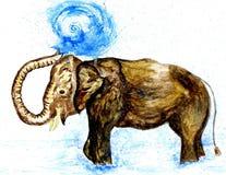 Art d'éléphant de bande dessinée Photographie stock libre de droits