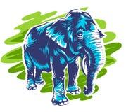 Art d'éléphant de vecteur Photos stock