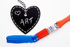 Art d'amour - peinture et brosse Photos stock