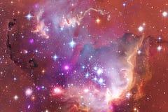 Art d'espace extra-atmosphérique Nébuleuses, galaxies et étoiles lumineuses en belle composition illustration libre de droits