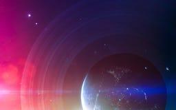 Art d'espace lointain Impressionnant pour le papier peint et la copie Éléments de cette image meublés par la NASA Photos libres de droits