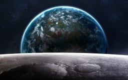 Art d'espace lointain Impressionnant pour le papier peint et la copie Éléments de cette image meublés par la NASA Image stock