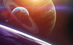 Art d'espace lointain Impressionnant pour le papier peint et la copie Éléments de cette image meublés par la NASA Photos stock