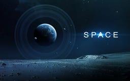 Art d'espace lointain Impressionnant pour le papier peint et la copie Éléments de cette image meublés par la NASA Photo libre de droits