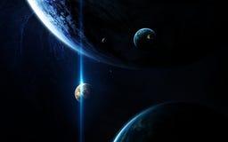 Art d'espace lointain Impressionnant pour le papier peint et la copie Éléments de cette image meublés par la NASA Photographie stock libre de droits