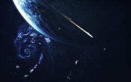 Art d'espace lointain Impressionnant pour le papier peint et la copie Éléments de cette image meublés par la NASA Images libres de droits