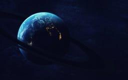 Art d'espace lointain Impressionnant pour le papier peint et la copie Éléments de cette image meublés par la NASA Images stock