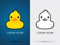 Art d'icône de canard Photos stock