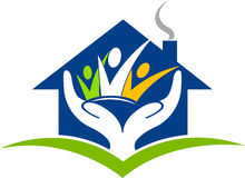 logo à la maison de confiance illustration de vecteur