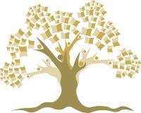 Logo d'arbre d'éducation Photo stock