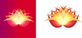 Art d'illustration de logo coloré de fleur et de société illustration stock