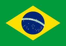 Art d'impression de bannière d'isolat de vecteur de drapeau du Brésil illustration stock