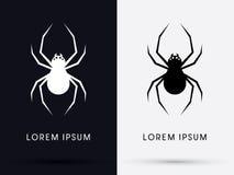 Art d'ombre d'araignée illustration libre de droits