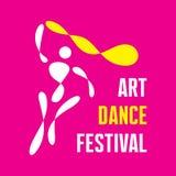 Art Dance Festival - vettore Logo Template Fotografia Stock