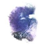 Art Dark bleu, goutte noire de peinture d'encre d'aquarelle Photos libres de droits