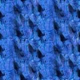Art Dark bleu, goutte noire de peinture d'encre d'aquarelle Photographie stock