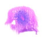 Art Dark bleu, goutte violette de peinture d'encre d'aquarelle Photographie stock libre de droits