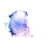Art Dark bleu, goutte violette de peinture d'encre d'aquarelle Photos libres de droits