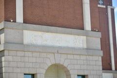Art de base-ball chez Texas Rangers Baseball Club Stadium photo libre de droits