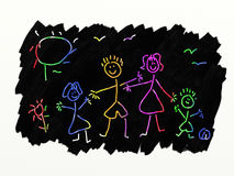 Art de brouillon - famille Images stock