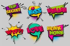 Art de bruit comique réglé de bulle de la parole des textes Image libre de droits
