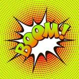 Art de bruit de boom sur un fond d'image tramée Images stock