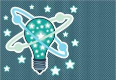 Art de bruit de vecteur d'ampoule d'idée illustration libre de droits