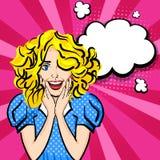 Art de bruit sexy heureux de fille de cheveux blonds illustration libre de droits