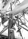 Art de câble de pipe en acier Photos stock