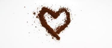 Art de café d'amour Image libre de droits