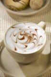 Art de café de cappuccino Photos libres de droits