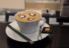 Art de cappuccino Photographie stock libre de droits
