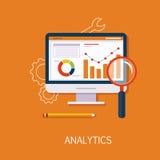 Art de concept d'Analytics Photos stock