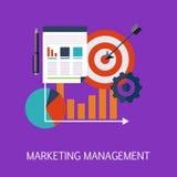 Art de concept de gestion du marketing Photo stock