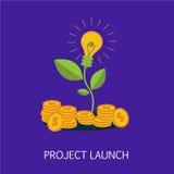 Art de concept de lancement de projet Photographie stock