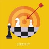 Art de concept de stratégie commerciale Photo stock