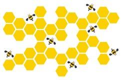 Art de conception de ruche d'abeille d'hexagone et vecteur de fond de l'espace Images libres de droits
