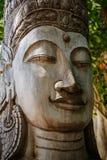 Art de découpage en bois du Cambodge Photographie stock libre de droits