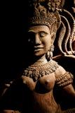 Art de découpage en bois du Cambodge Photos libres de droits