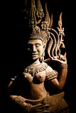 Art de découpage en bois du Cambodge Photos stock