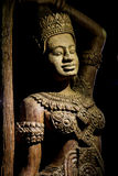 Art de découpage en bois du Cambodge Images stock