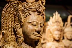 Art de découpage en bois du Cambodge Photo stock