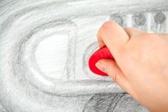 Art de dessin au crayon Photos stock