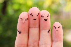 Art de doigts d'amie heureuse Photo stock